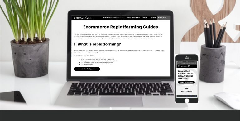 Ecommerce replalforming service banner